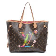 ba5b81c5904 Fashionphile - LOUIS VUITTON Monogram LV Hands Moca Neverfull MM Louis  Vuitton Murakami