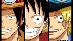 Ace, Luffy, Sabo, brothers; One Piece