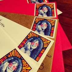 Running out of my #janisjoplin #stamps after today! #usps #uspsstamps #postalservice #classicrock #music #janis #legend #retro #color #pink