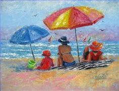 Beach impressionist paintings - Google Search