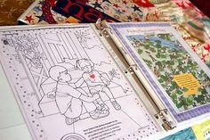 Dry erase quiet book using dry erase crayons
