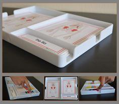 Three Part Cards Tray/Container | Montessori Research and Development - Montessori materials, teacher manuals and books