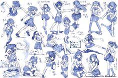 Позы и тело) | =уроки рисования манги и аниме=
