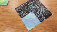 Mrs. Elder's World of Art. radial symmetry, radial design, rose window, printmaking, Styrofoam printing, fourth grade, elementary art