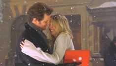 Bridget Jones & Mark Darcy (and her running in her underwear in the snow to catch him!)