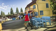 <b>HER KAN DU TREFFE PIPPI LANGSTRØMPE:</b> Astrid Lindgrens Verden har blitt kåret til en av Nordens aller beste familieparker.