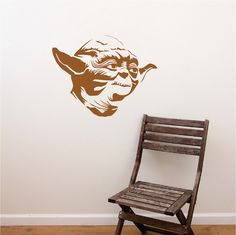 Yoda Decal Sticker _ Star Wars Wallpaper Murals _ Yoda Star Wars Bedroom Designs _ DIY Star Wars Decals _ Trendywalldesigns