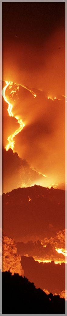 eruzione dell'Etna (Sicilia)
