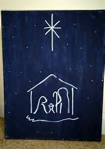 Image result for Easy Christmas Paintings On Canvas Ideas