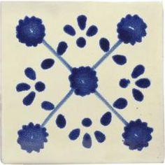 Blue Marguerite - Decorative Mexican Tile