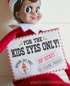 Elf on the Shelf Mission Impossible Envelopes and Cards - Free Printables!!