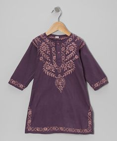 Take a look at this Plum Acai Hand-Embroidered Dress - Infant, Toddler & Girls by Alejandra Kearl Designs on #zulily today!