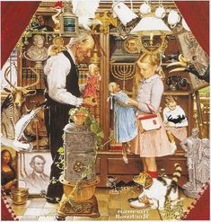 l like Norman Rockwell paintings, but this one is just plain weird. The more you look at it the weirder it is. SB