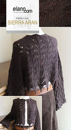 Aran Weight Lace Cropped Cardigan