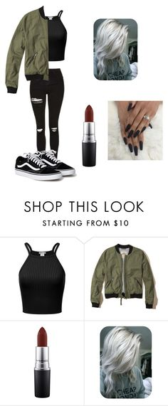 """Milada"" by maize-xx on Polyvore featuring Hollister Co., MAC Cosmetics, black, brown, autumn and poncho"