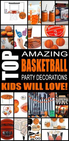 Find the best basketball birthday party decorations for kids. There are so many cool basketball birthday party decorations from balloons to birthday cake toppers, these basketball birthday party decorations are sure to be a hit with all the children. Easy, fun decorations to make your basketball party special.