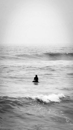 Lonely surfer at the sea. #seascape