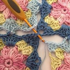 Transcendent Crochet a Solid Granny Square Ideas. Inconceivable Crochet a Solid Granny Square Ideas. Crochet Blocks, Granny Square Crochet Pattern, Crochet Blanket Patterns, Knitting Patterns, Afghan Patterns, Free Knitting, Knitting Squares, Crochet Blankets, Crochet Crafts