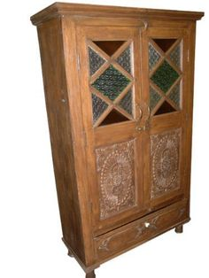Hand Carved Armoire, Indian Furniture | Eclectic Furniture | Pinterest |  Teak, Armoires And Furniture