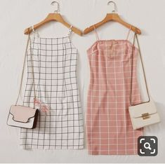 Grid Bodycon Cami Dress - Source by Official_Romwe - Cute Casual Outfits, Cute Summer Outfits, Pretty Outfits, Stylish Outfits, Girls Fashion Clothes, Teen Fashion Outfits, Girl Outfits, Fashion Dresses, Womens Fashion