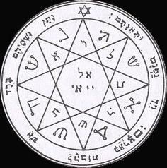 7ème pentacle de Mars: Le propriétaire prononce les noms divins de Hel et Yahvé pour apporter la confusion à ses ennemis.
