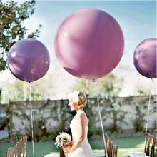 Colorful World 10 Pcs/Lot 36 Inches Balloon Ball Helium Inflable Big Latex Balloons For a Birthday Party Decoration(China (Mainland))