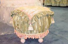 Tall Medium VintageTuffet Vintage Love, Vintage Decor, Bedroom Stools, Victorian Sofa, Foot Stools, Ottoman Sofa, Kids Curtains, Vanity Stool, Woman Bedroom