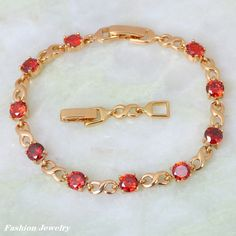 Find More Charm Bracelets Information about  New 2016  Brand designer ! garnet Bracelets for Women , 18K Yellow Gold Plated red zircon, Fashion Jewelry B329 Free shipping,High Quality bracelet cristal,China bracelet beeds Suppliers, Cheap bracelets for baby girls from Dana Jewelry Co., Ltd. on Aliexpress.com