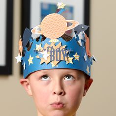 Birthday crowns for boys! Make His Majesty royalty for a day.