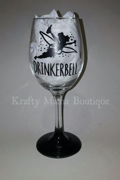Drinkerbell Hand Painted Glassware by kraftymamaboutique on Etsy