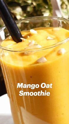 Mango Smoothie Healthy, Mango Smoothies, Mango Banana Smoothie, Mango Smoothie Recipes, Oat Smoothie, Healthy Juices, Dessert Drinks, Dessert For Dinner, Healthy Desserts