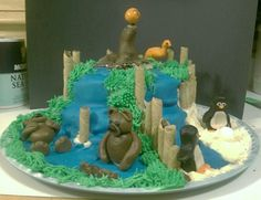 Central Park Zoo cake