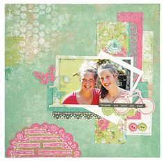 KaiserCraft Secret Admirer layout by Melissa Kennedy