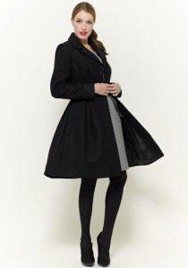 Pepperberry Full Skirt Coat in Black
