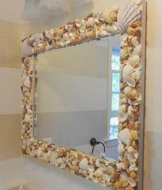 decorar-conchas-moldura-espelho