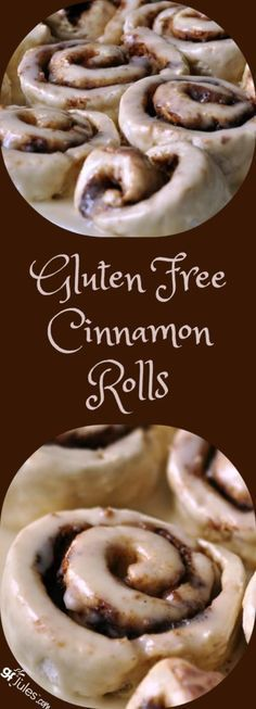 Favorite Gluten Free Cinnamon Rolls - so soft and light, gooey and irresistible! This gluten free recipe defies all odds with it's deliciousness! No one will ever know you've left out the gluten or the dairy when made with gfJules Flour! Gluten Free Cinnamon Rolls, Gluten Free Baking, Gluten Free Desserts, Healthy Desserts, Healthy Recipes, Gf Recipes, Dairy Free Recipes, Supper Recipes, Gluten Free Recipes