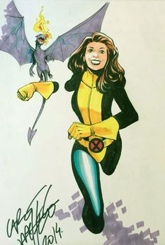 Shadowcat and Lockheed by Carlos Pacheco