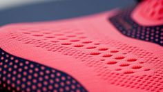 Shoe, nose, fabric, textile, woven, pattern, texture, breathable, hole, pattern, pink