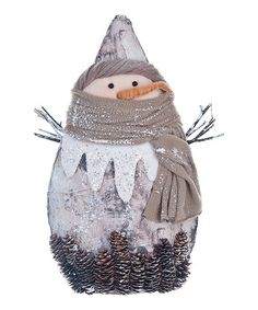 This Large Icy Snowman Figurine is perfect! #zulilyfinds