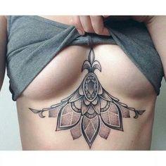 Underbust art deco tattoo