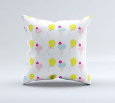 Ice-Cream and Balloons Cushion Cover/Pillow-case in by tinytweets