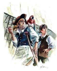 René FOLLET -L'ILE AU TRESOR - Couverture originale , source : http://www.galerienapoleon.com/