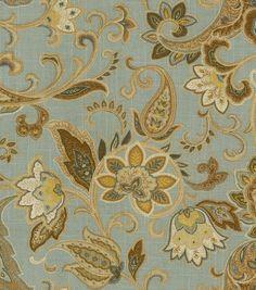 Home Decor Print Fabric Swavelle Millcreek Bridgehampton Polar Blue