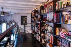 bookshelves = love! Marco & Ilse's Gothic Industrial Loft