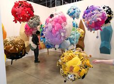 Mike Kelley's 1990s installation of sewn-together stuffed animals and fiberglass deodorizers.