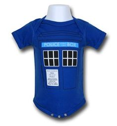 Doctor Who Tardis Infant Snapsuit