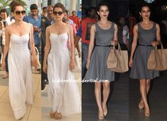 kangana-ranaut-white-maxi-grey-dress-airport