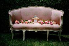 pretty pink settee