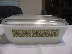 Pyrex Square Flowers Fridgie