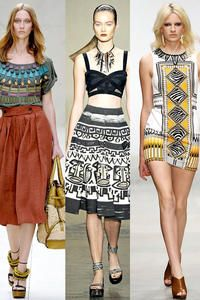 Aztec style on the catwalks.